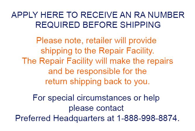 Warranty Repair Center